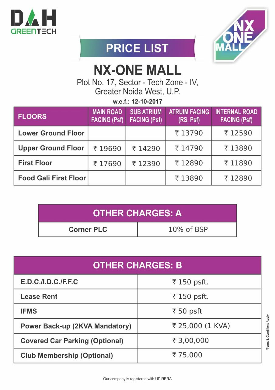 nx one price